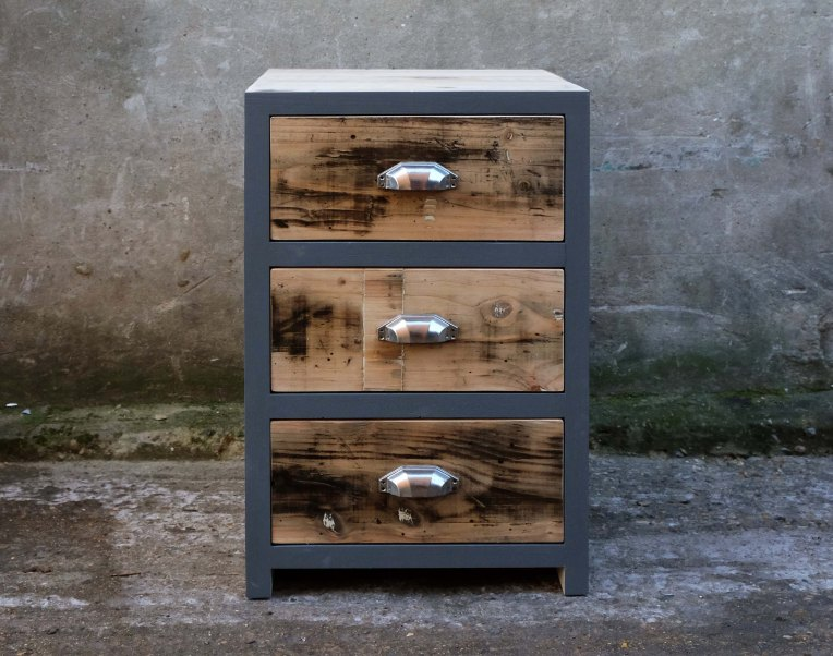 """""""Little Grey Chest"""" 700mm high x 500mm wide x 550mm deep. The edge can be any colour of your choice to match your interior. £650"""